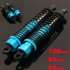 Adjustable Aluminium Shock Absorbers. 1/10 & 1/8 scale. Choice of Lengths. Blue