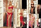 TK10X New Sexy Lingerie Red Lace Top Sleepwear Babydolls + Long Dress