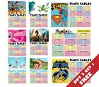 26 SELECTION OF TIMES TABLES Maths Poster Wall Chart Kids 1-12 *BUY 2 GET 1 FREE