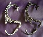 Alchemy Gothic The Dragons Lure Dragon Earring Black Or Pewter Colour