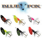 Blue Fox Vibrax Bullet Fishing lure spinner. 6 different colors and 4 sizes