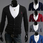 Stylish Classic Deer Embroidered Casual Slim Fit Long Sleeve Cardigan 6 Colors