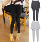 Women's Sexy Soft Blend Stretch Cotton Skirt Leggings Waist Yoga Pant Lounge K85