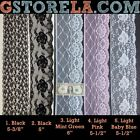 Nylon Floral Flat Laces Trim Edging Scalloped 5 - 6* 5, 10 yards #210