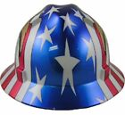 MSA American Pride Full Brim Hard Hats 3 Styles Ratchet Suspension
