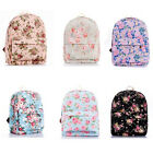 Fashionable& Simple Design Flower Floral Pattern Canvas Backpack 1 Pc Girls' Bag