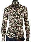 Mens Luxury Stylish Slim Fit Casual Long Sleeve Printing Flower Dress Shirts