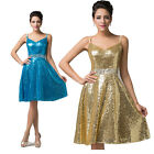 Sequins Sexy Short Mini Women Formal Straps V-Neck Evening Prom Wedding Dress