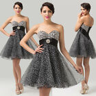 Gorgeous Strapless Beaded Wedding Ballgown Formal Evening Prom Dress UK Size6~20