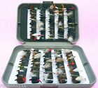 GR Fly Box and Mixed LOCH-NESS Trout Fly Fishing Flies FOR Fly rod reel and line