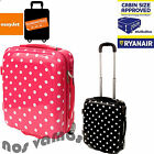 ABS Plastic Suitcase Wheeled Cabin Trolley Hand Luggage Ryanair Easyjet 50x40x20