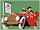 5992.Prince george hotel.three men and woman in car.POSTER.Home Office art