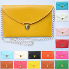 Womens Lady PU Envelope Clutch Chain Purse Handbag Tote Shoulder Hand Bag New