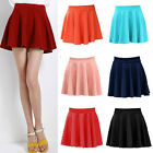 New Summer Women's Mini Skirt Casual Pleated Short A-line Skirt Solid Colour