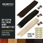 DIY Clip in Remy Human Hair Extensions Sets 105g of Hair Free 20 Clips
