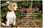 ! BEAGLE ! Metall Warnschild .03