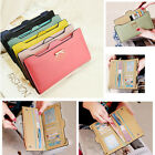 Fashion Women Soft Leather Bowknot Clutch Wallet Long Purse Card Holder Handbag