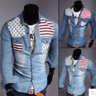 New! Korean Slim casual long-sleeved denim shirt 3 styles