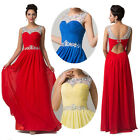 Chiffon Pleated Gowns Formal Bridesmaid Homecoming Wedding Evening Prom Dresses