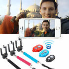Bluetooth Selfie Remote Control Shutter + Extendable Handheld Monopod For Phone