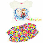 Frozen Elsa and Anna Girl Summer 2pcs Set(Top + Skirt) Size 2,3,4,5,6,8