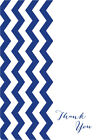 VERTICLE CHEVRON THANK YOU CARDS - cute baby shower wedding boy girl party DIY