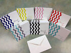 boy baby shower thank you cards - VERTICLE CHEVRON THANK YOU CARDS - cute baby shower wedding boy girl party DIY