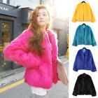 FREE SHIPPING Fashion design Fur Outerwear Faux Fur Warm jacket coats 4 colors