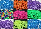 100 - 6mm x 19mm Spaghetti beads Made In USA -  Neon Colors - Choice
