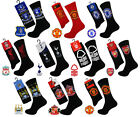 2 PAIRS of Mens Football Club Sports Socks, Official Merchandise, Size 6-11