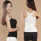 Women's Strap Bow-Knot Cross Vest Bamboo Fiber Sexy Wrapped Chest Underwear T90