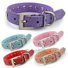 PU Leather Dog Pet Puppy Studded Neck Collar Strap Buckle Adjustable