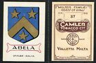 Malta: Camler - Maltese Families Coats Of Arms 1925 #1 to #48 (£2.50 each)