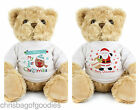 PERSONALISED My First 1st Christmas TEDDY BEAR Baby Babys Baby's Boy Girl Gifts