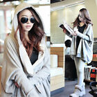 HOT New Hip-Hop style Womens Bat Sleeve Hooded Sweater Casual Solid Color CH