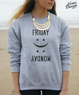 Friday Monday Jumper Emoticon Fashion Happy Sad Face Weekend Sweater Hate Tumblr