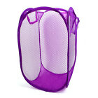 Laundry Bag Basket Pop Up Mesh Hamper Foldable Wash Clothes Storage Bin Portable
