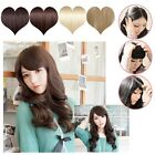 Cute lady Front bangs fringe clip in hair extension straight/curly excellent U9