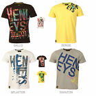 New Mens Henleys Crew Neck Printed Short Sleeve T Shirt Casual Summer Size M-3XL