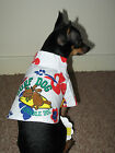 Small dog clothes pet Chihuahua cute shirt tank top surf dog size - M Teddy Face