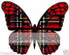 RED TARTAN - Edible Butterlies Cup Cake Toppers Birthdays & More - Various Sizes