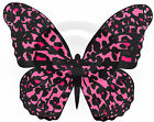 PINK LEOPARD PRINT BUTTERFLIES  CAKE Toppers Edible Decorations Rice Paper