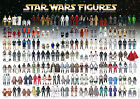 Star Wars Vintage Action Toy Checklist Reference Poster 98 Figures 1977-85 SR A3