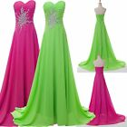 Chiffon Sexy Women Evening Formal Party Ball Gown Prom Bridesmaid Banquet Dress