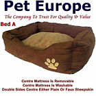 Dog Beds Cat Pet Small Medium Large Extra Large Brown Faux Suede & Sheepskin
