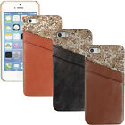 BN Leather Back Hard Case Cover with Card Holder Flower Luxury Case for iPhone 5