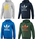 NEW! Adidas Trefoil Hoodie Hooded Sweatshirt MEN Sizes Small Medium Large XL HOT