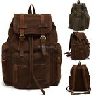 Retro Travel Hiking Camping Festival Luggage Rucksack Backpack Vintage Bag ItS7