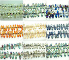 10pcs Teardrop crystal GLASS LOOSE BEADS 17MM Multicolor