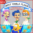 Bubble Guppies party EDIBLE Vanilla wafer 15 Cupcake Cake Toppers PRECUT Cup